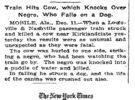 Uno de los accidentes más extraños del siglo pasado