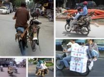 Curiosas formas de transportas objetos en Vietnam