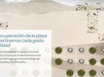 Carrefour colabora en la reconstrucción de la playa de Tamarit