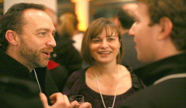 Jimmy Wales y Mark Zuckerberg