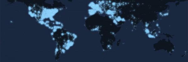 Tweetping, un mapa mundial interactivo que muestra la actividad en Twitter