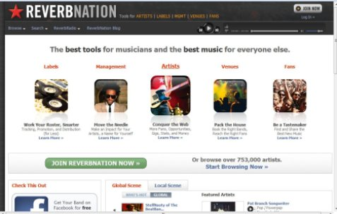 Reverbnation, promueve tu grupo en internet