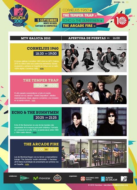 Confirmado al completo el cartel del MTV Galicia