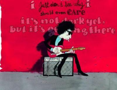 Los éxitos de Bob Dylan, dibujados en papel