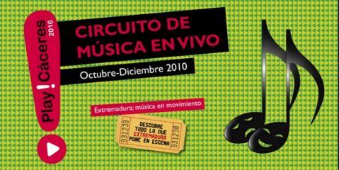 Amplia oferta de conciertos en el Play! Cáceres