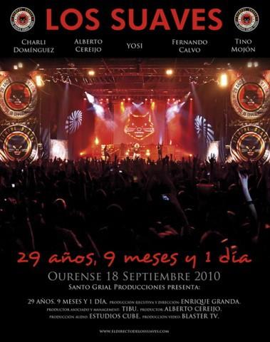 Los Suaves, portada y detalles de su DVD y CD en directo