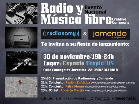 Jamendo y Radionomy