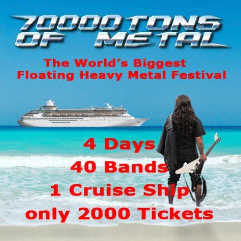 70000 tons of metal, curioso festival de rock en un crucero por el Caribe