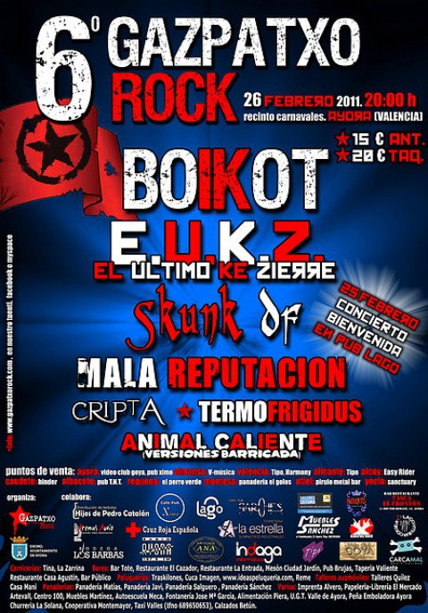 Cartel 6º Gazpatxo rock
