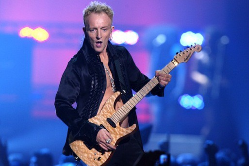 LAS VEGAS - MAY 25:  Def Leppard guitarist Phil Collen performs during the VH1 Rock Honors at the Mandalay Bay Events Center on May 25, 2006 in Las Vegas, Nevada.  (Photo by Kevin Winter/Getty Images)