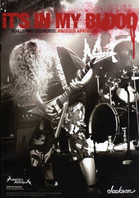 Angelus Apatrida Jackson Guitar cartel Guillermo Izquierdo