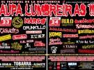Cartel del festival Aupa Lumbreiras!! 2011: la resistencia no descansa