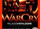 WarCry anuncia la grabación de un DVD en directo en Madrid