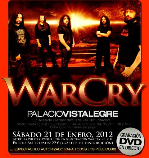 WarCry dvd Palacio Vistalegre Madrid cartel