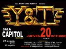 Y&T mañana en la Sala Capitol de Santiago
