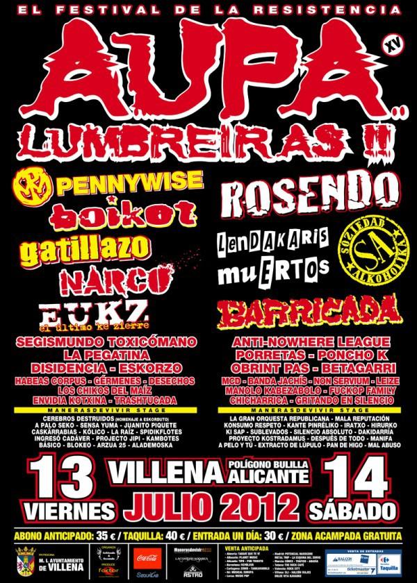 Aúpa Lumbreiras!! 2012 cartel