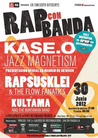 Festival Rap con Banda: Kase.O, Rapsusklei y Kultama, ¡instrumentos al poder!