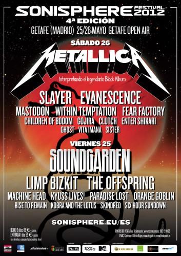 Sonisphere España 2012