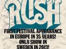 Rush, primer festival en Europa tras 34 años