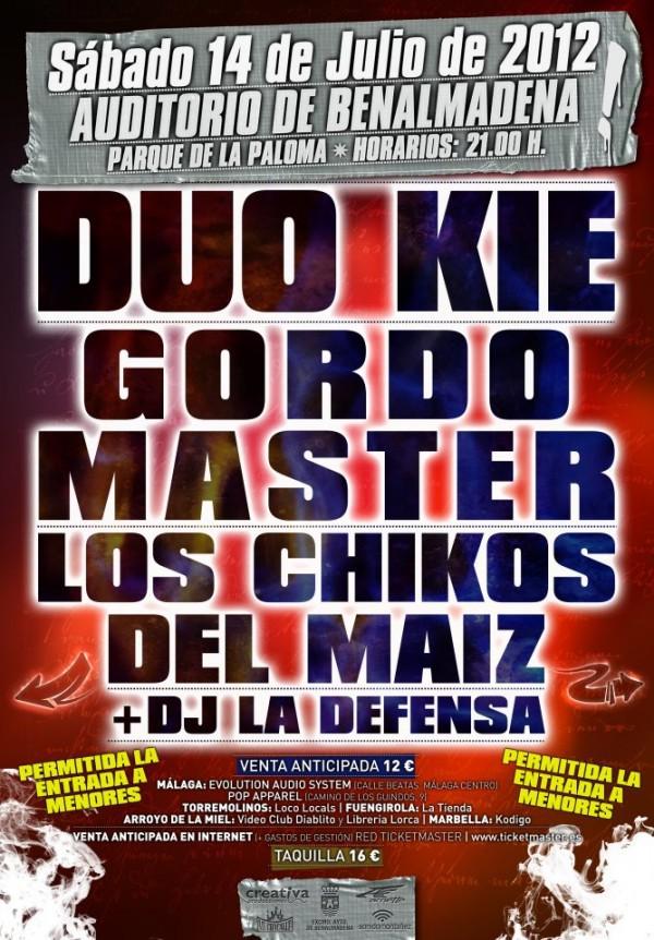Duo Kie Gordo Master Los Chikos del Maíz Defensa Benalmádena cartel rap