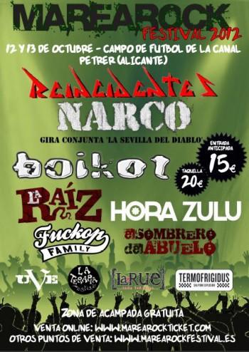 MareaRock Festival 2012 cartel Petrel Alicante