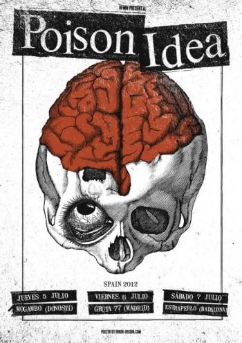 Poison Idea cartel gira España 2012