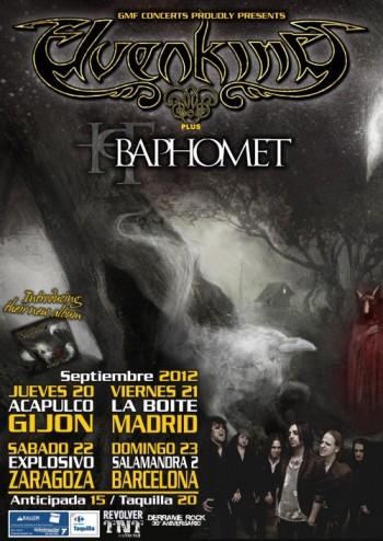 Elvenking cartel gira España 2012 septiembre