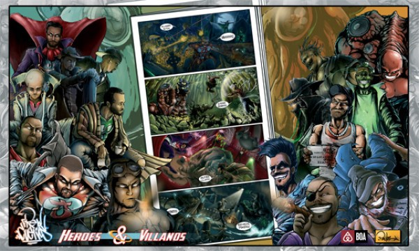 Crew Cuervos Héroes y villanos promo
