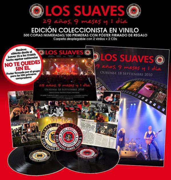"""Los Suaves, edición en vinilo de """"29 años, 9 meses y un día"""""""