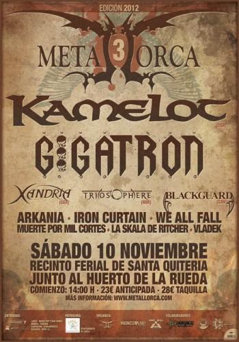 Festival Metal Lorca con Kamelot, Gigatrón, Xandria y muchos más este sábado