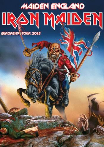 Iron Maiden Maiden England European tour 2013 cartel