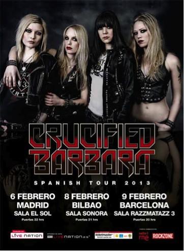 Crucified Barbara comienzan su gira por España
