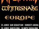 Def Leppard, Whitesnake y Europe, gira conjunta en junio