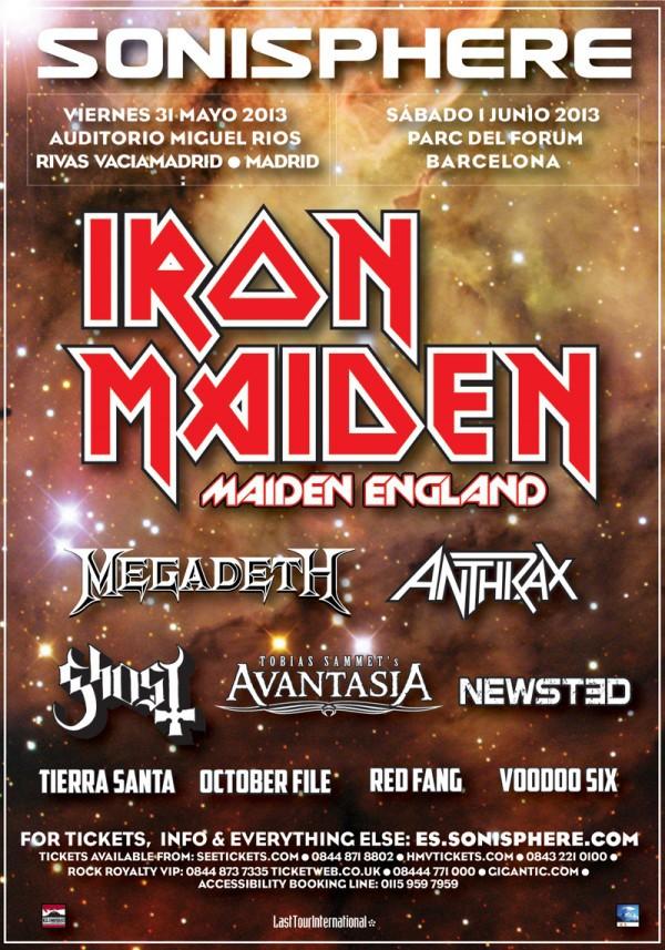 Megadeth, Anthrax y Newsted cierran el cartel del Sonisphere Spain 2013