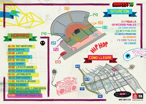 BoaFest horarios mapa 2013