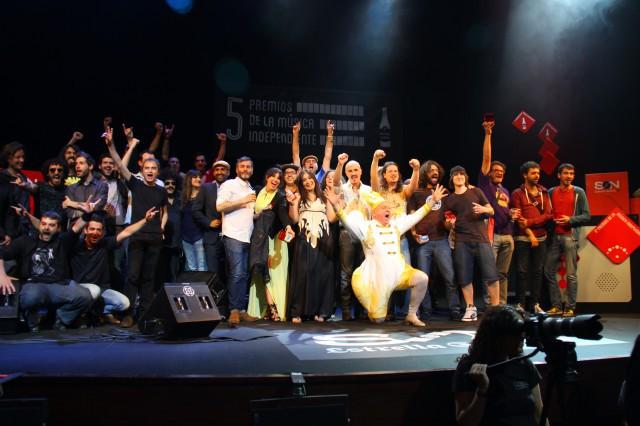 Lista de Ganadores de la V edición de los Premios de la Música Independiente