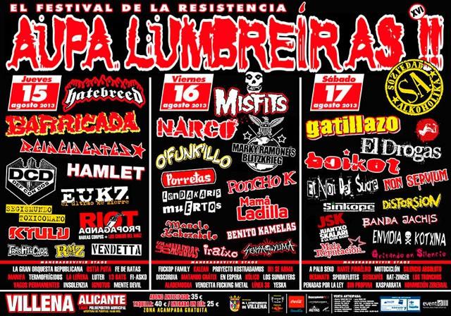 Aúpa Lumbreiras!! publica sus horarios: el festival de la resistencia, más vivo que nunca