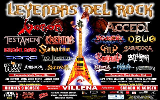 Leyendas del Rock 2013 cartel final