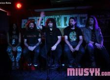 WarCry Rueda de prensa Madrid Miusyk Francisco Reina Breaking Bar Hortaleza Inmortal