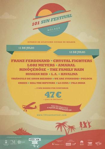 El 101 Sun Festival contará con Franz Ferdinand, Crystal Fighters, Amaral, Lori Meyers, Russian Red y más