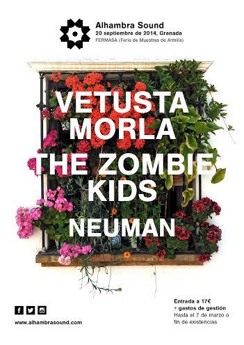 Alhambra Sound Festival primer cartel Vetusta Morla