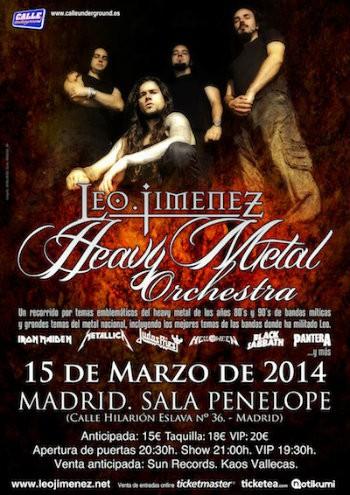 Leo Jiménez Heavy Metal Orchestra cartel Madrid Penélope 2014