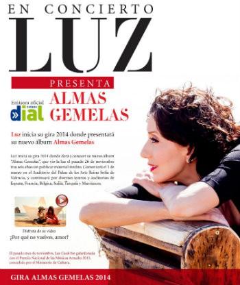 Luz Casal anuncia las fechas de su gira 'Almas gemelas 2014'