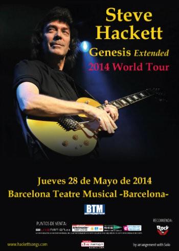 Steve Hackett promo Barcelona cartel 2014
