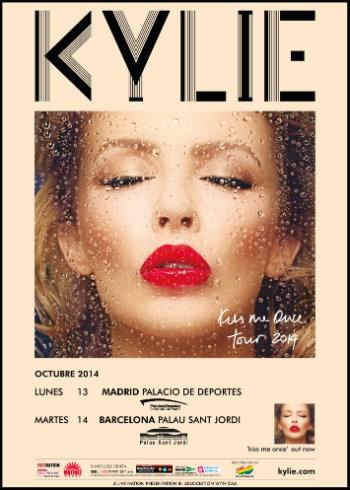 Kylie Minogue cartel gira España 2014