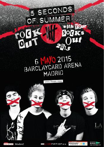 5 Seconds of Summer concierto España Madrid mayo 2015 cartel