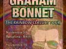 Graham Bonnet, todos los detalles de su gira por España
