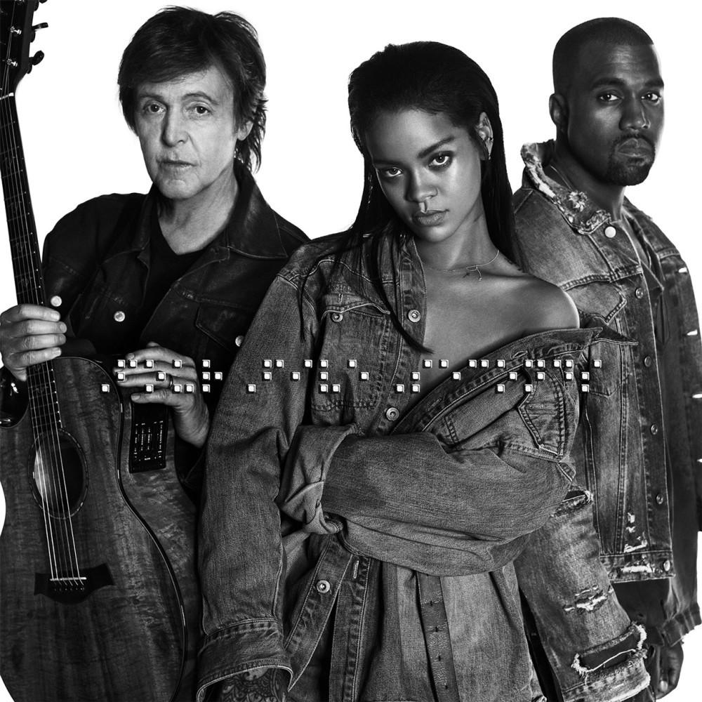 "Rihanna, Kanye West y Paul McCartney juntos en ""Fourfiveseconds"""