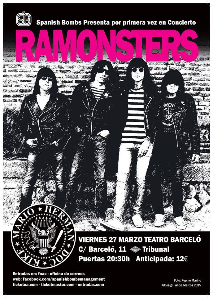 Ramonsters se presentan en directo el 27 de marzo