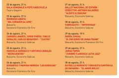 Flamenco on Fire, programación de su ciclo nocturno